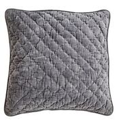 DAY HOME - VELVET QUILTED CUSIOHN COVER - UNBLACK