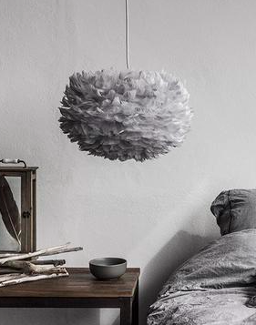 EOS - FEATHER LAMP - LIGHT GREY - MEDIUM