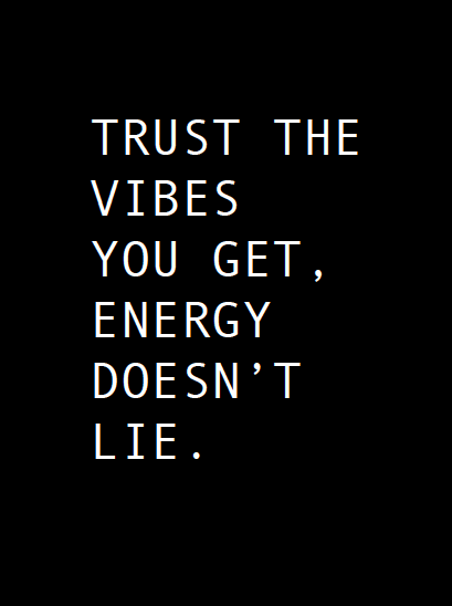 POSTER - TRUST THE VIBES - BLACK