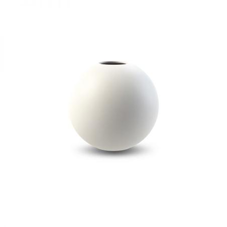 COOEE - BALL VASE 10 CM WHITE