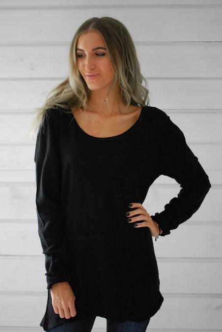 ANNA DIDI - CASHMERE  TOP - BLACK