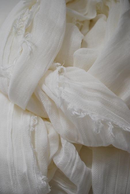 STYLESNOB - HEMA SCARF - OFF WHITE