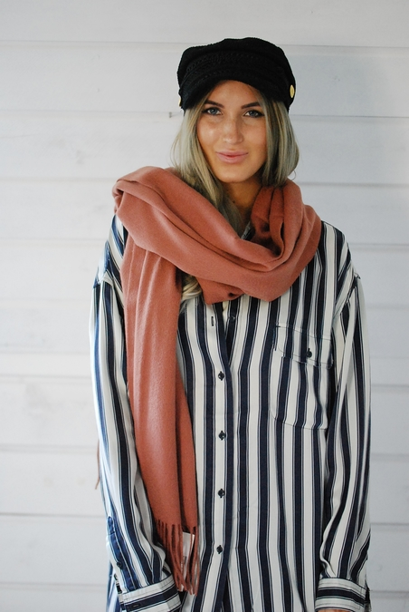 MBM - SID STACY SCARF - BRICK RED