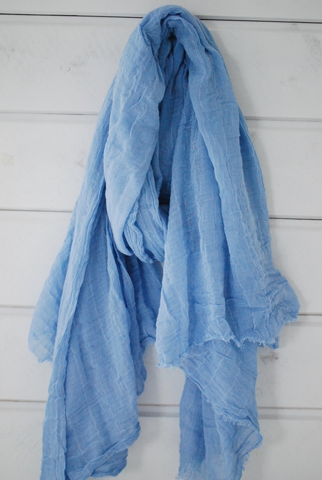 RABENS SALONER - RIGDIS SJAL - CHAMBRAY BLUE