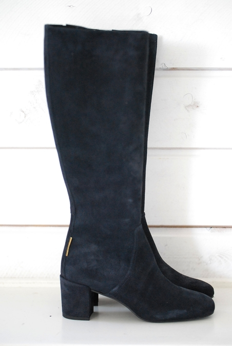 OTTOD´AME - HIGH ANKLE BOOTS - DARK BLUE SUEDE