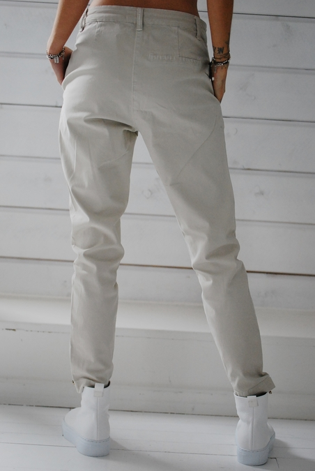 RABENS SALONER - NELLY - TWILL RELAXED FIT PANT - BONE