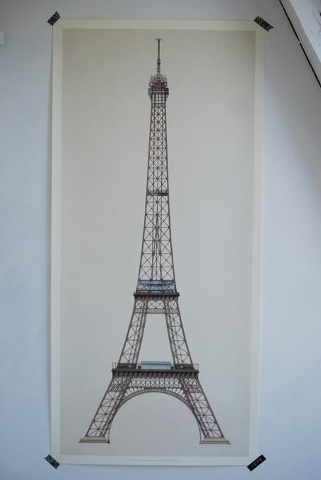 PRINT - PARIS - TOUR EIFFEL - 47x100 CM