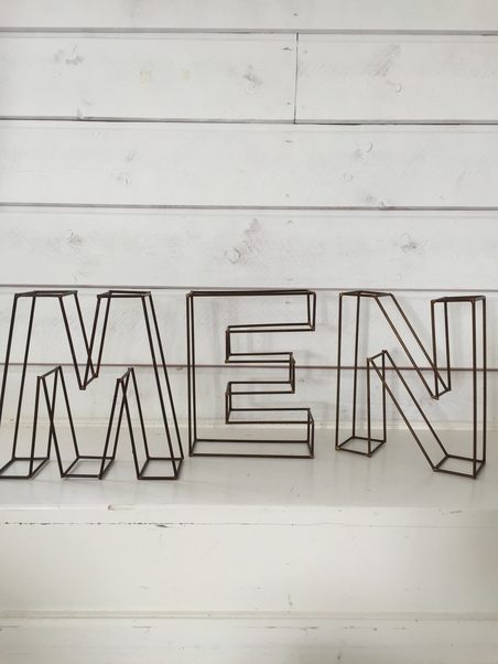 WIRE LETTERS - NEW