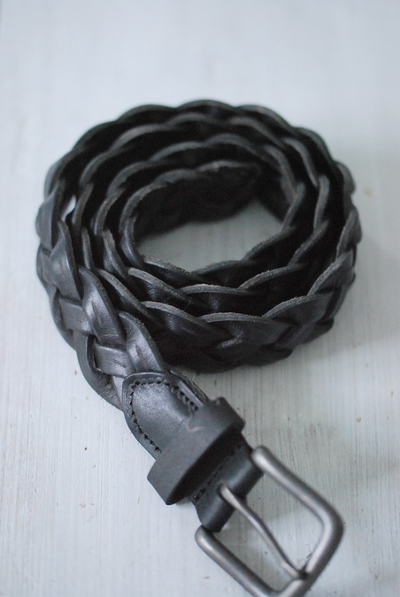 BELT - BLACK BRAIDED - 35 MM