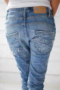 PLEASE JEANS LJUS DENIM