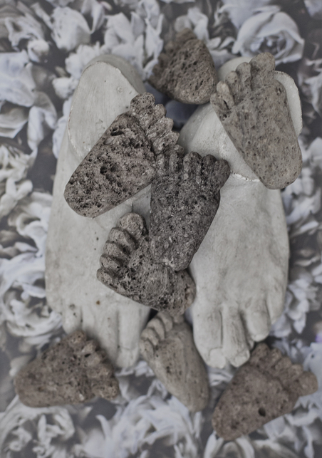 LOVE WARRIORS - PUMICE STONE CARVED FEET
