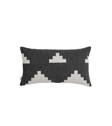 NEW WORKS/ MARLENE BIRGER - IKAT CUSHION - BLACK SMALL
