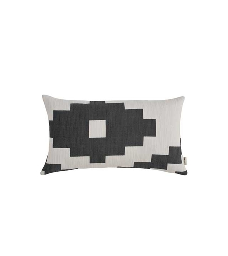 NEW WORKS/ MARLENE BIRGER - IKAT CUSHION - SVART  LITEN