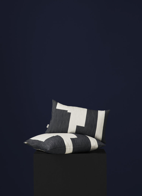 NEW WORKS/ MARLENE BIRGER - GRAPHIC CUSHION - BLACK SMALL