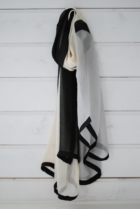 SILKSCARF - DENTAKU - GREY