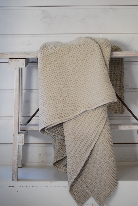 TELL ME MORE - BLANKET - SAND BEIGE