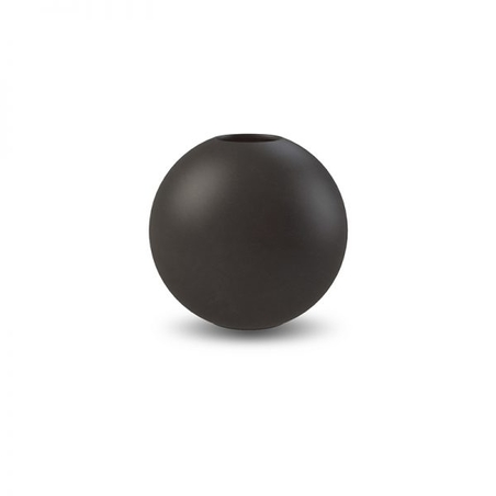 COOEE - BALL VASE - BLACK 10 CM