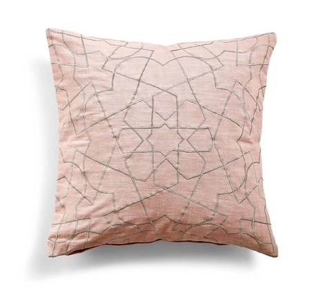 DAY HOME - SOMWHERE CUSHION COVER - SILVER PINK