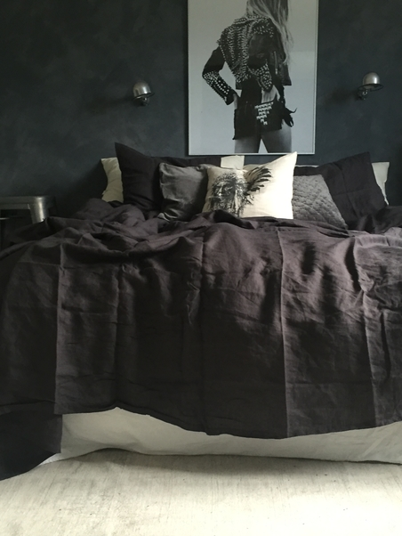 SHEET/TABLE CLOTH LINEN - 160X270 CARBON