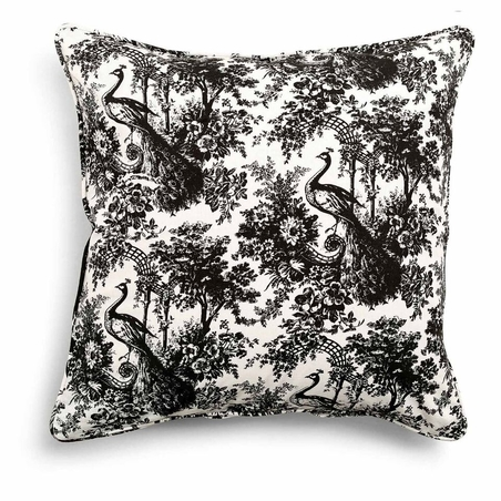 DAY HOME - TOILE CUSHION COVER - BLACK