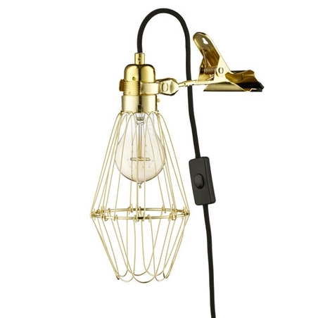 HEY THERE HI - WORK LAMP DE LUX - BRASS/BLACK
