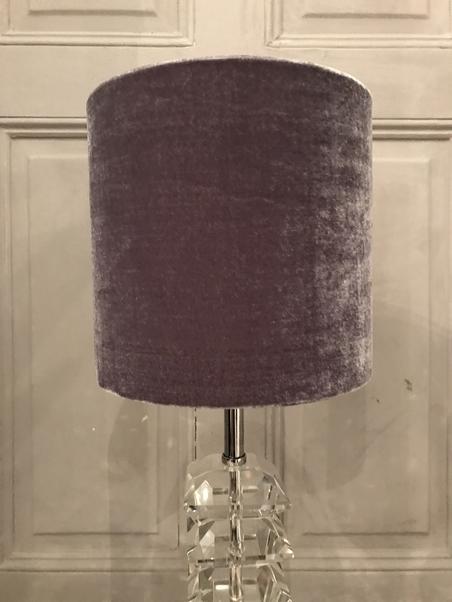 LAMPSHADE - DARK GREY VELVET - SMALL
