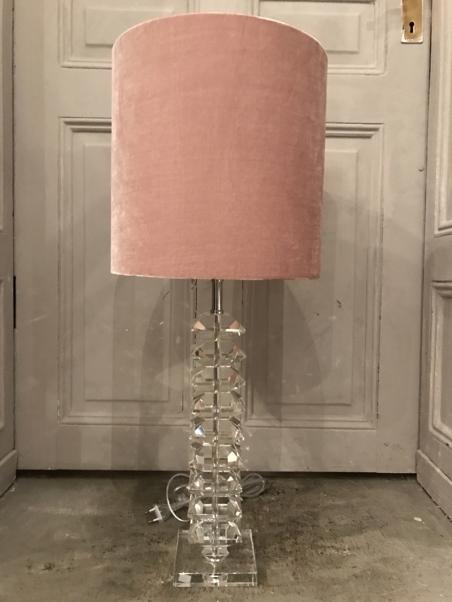 LAMPSHADE - PINK VELVET - LARGE