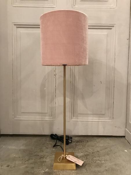 LAMPSKÄRM - ROSA SAMMET - LITEN