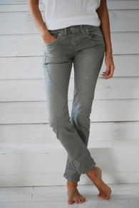 PLEASE JEANS -SLIM - KHAKI - THIN