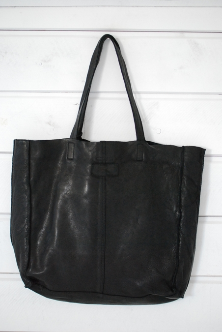 MINOROZONI - LEATHER BAG - BLACK