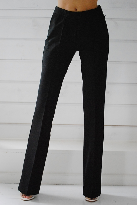 OTTOD´AME - BLACK TROUSERS - LONG WIDE