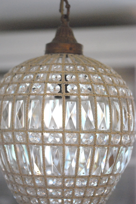 CEILING LIGHT OVAL CRYSTAL - LARGE