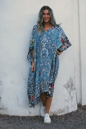 JOHNNY WAS - PONCHO DRESS