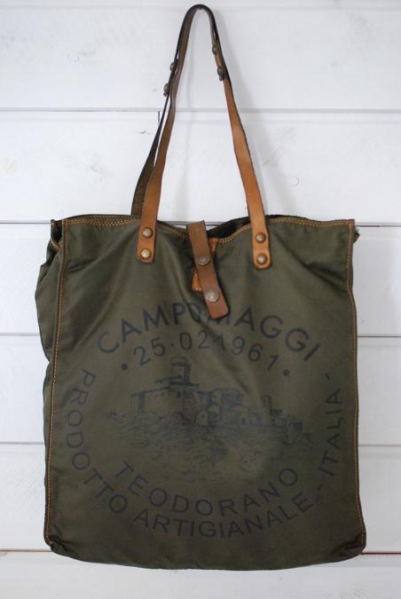CAMPOMAGGI - SHOPPING BAG - ARMY