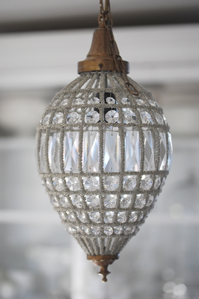 CEILING LIGHT OVAL CRYSTAL