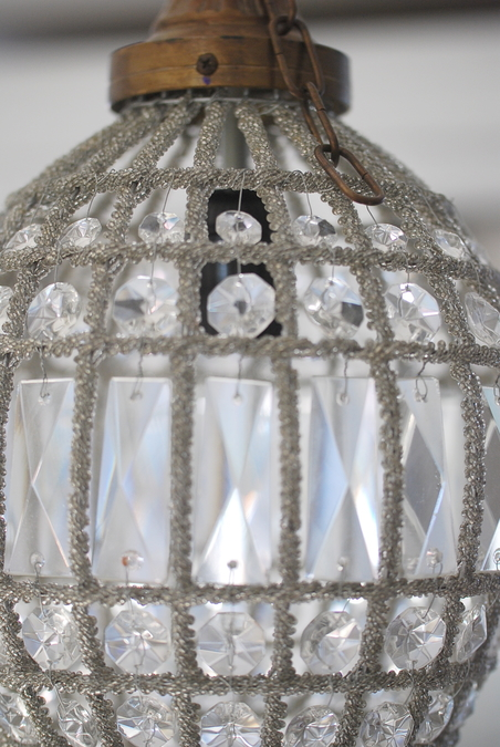 CEILING LIGHT OVAL CRYSTAL - SMALL