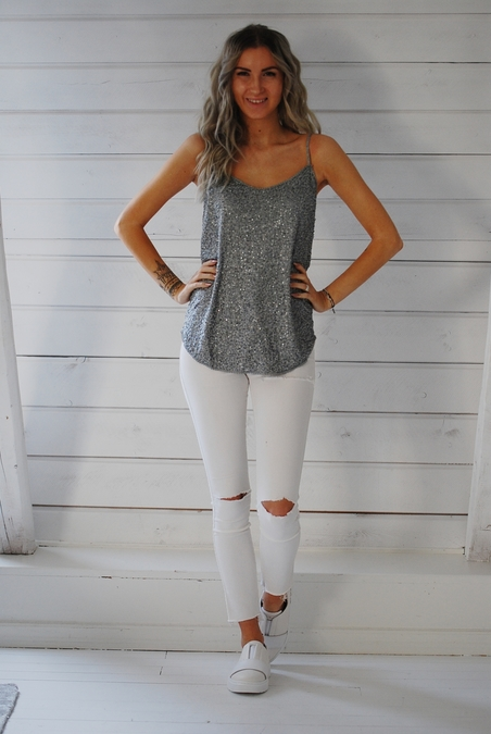 CHARLIE JOE - ROCHAS TOP - GREY MISTY