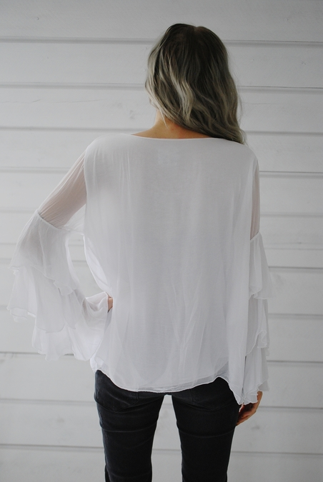 OOTD - FRILL TOP - WHITE