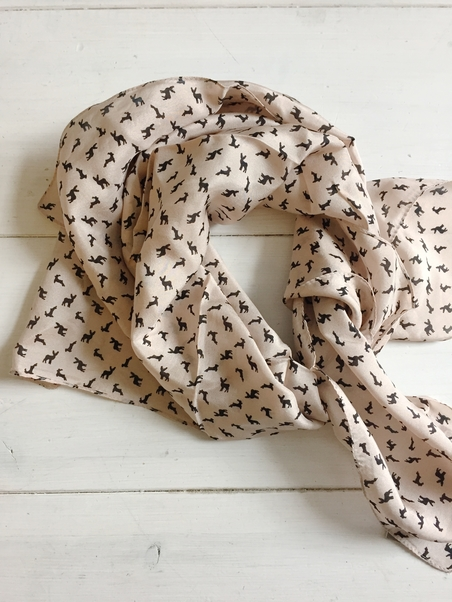 SILKSCARF - DUSTYPINK - DEER