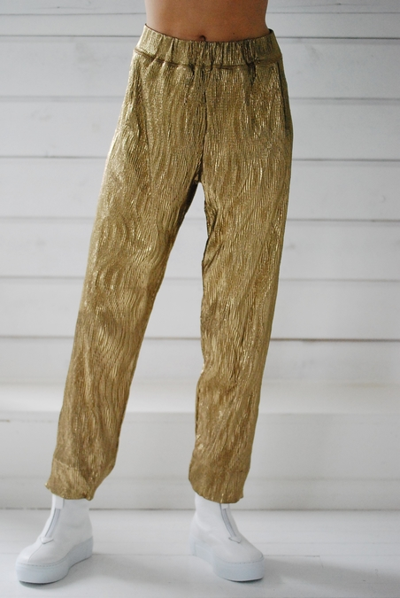 RABENS SALONER - SAVY  PANTS - GOLD