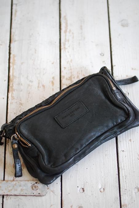 MINOROZONI - LEATHER BAG - BLACK