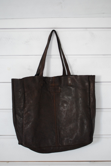 MINOROZONI - LEATHER BAG - DARK BROWN