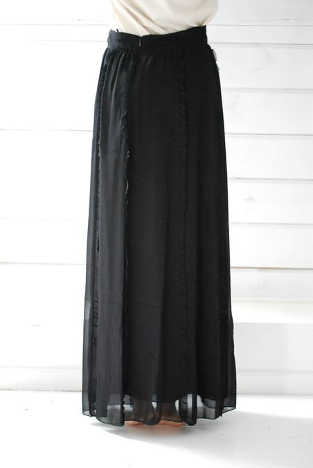OTTOD´AME - LONG SKIRT - BLACK