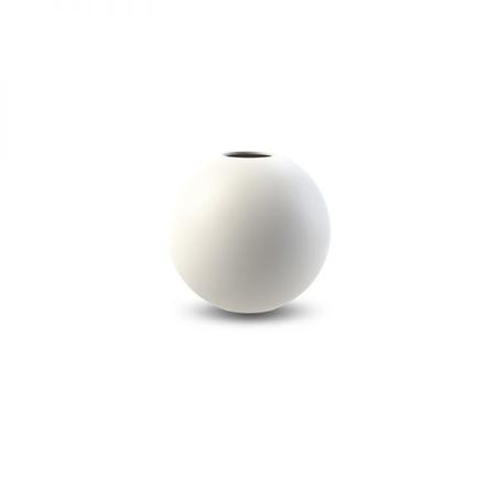 COOEE - BALL VASE 8 CM WHITE